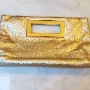 Michael Kors Gold Clutch